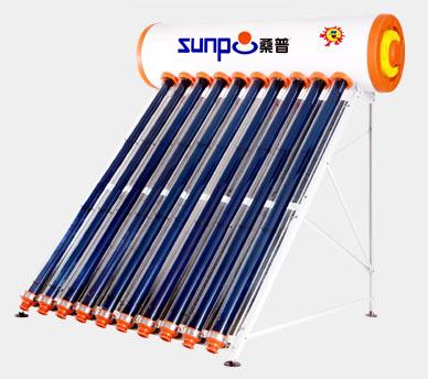 """桑普承压太阳能热水器""""太空管""""系列全国领先产品"""